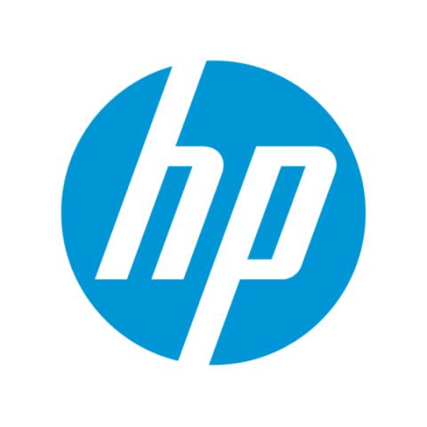 Logo client HP avec production musicale et son